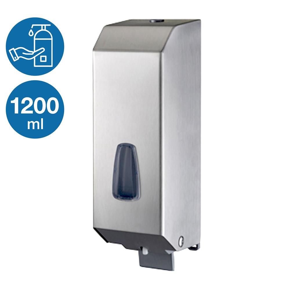 Дозатор жидкого мыла из нержавеющей стали 1,2 л., матовый сатин