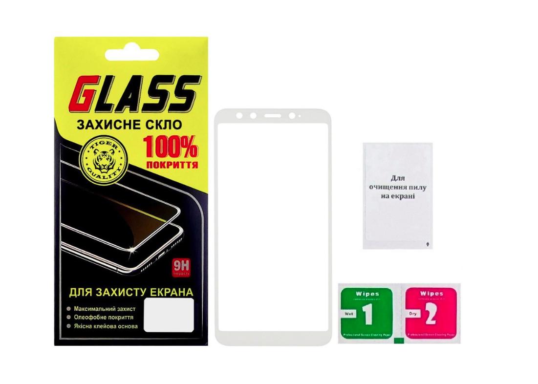 Защитное стекло для XIAOMI Mi 6x/Mi A2 Full Glue (0.25 мм, 2.5D, белое) Люкс