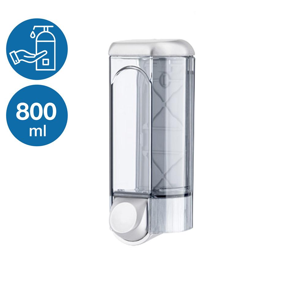 Диспенсер раздатчик жидкого мыла шампуня моющего 800 мл сатин ACQUALBA пластиковый настенный прочный