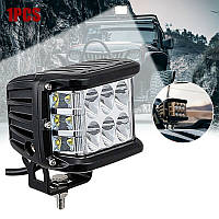 Противотуманные LED фара прямоугольная 98*76mm 18W 1300lm (1шт)