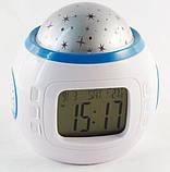 Часы будильник 3 в 1  ночник проектор звездного неба UKC UI-1038, фото 3
