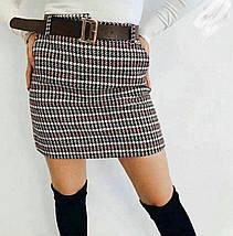 Утепленная женская твидовая юбка в стиле Dior 44-48 р, фото 2