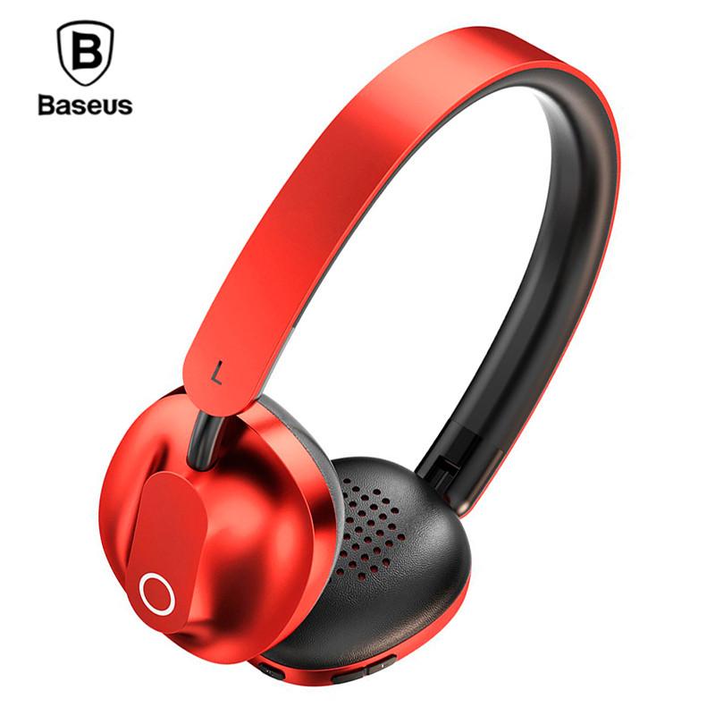 Беспроводные Bluetooth наушники Baseus D01 Encok Wireless NGD01-09 (Красные)