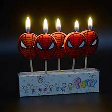 Свечи на  торт человек паук  spider man набор 5 шт
