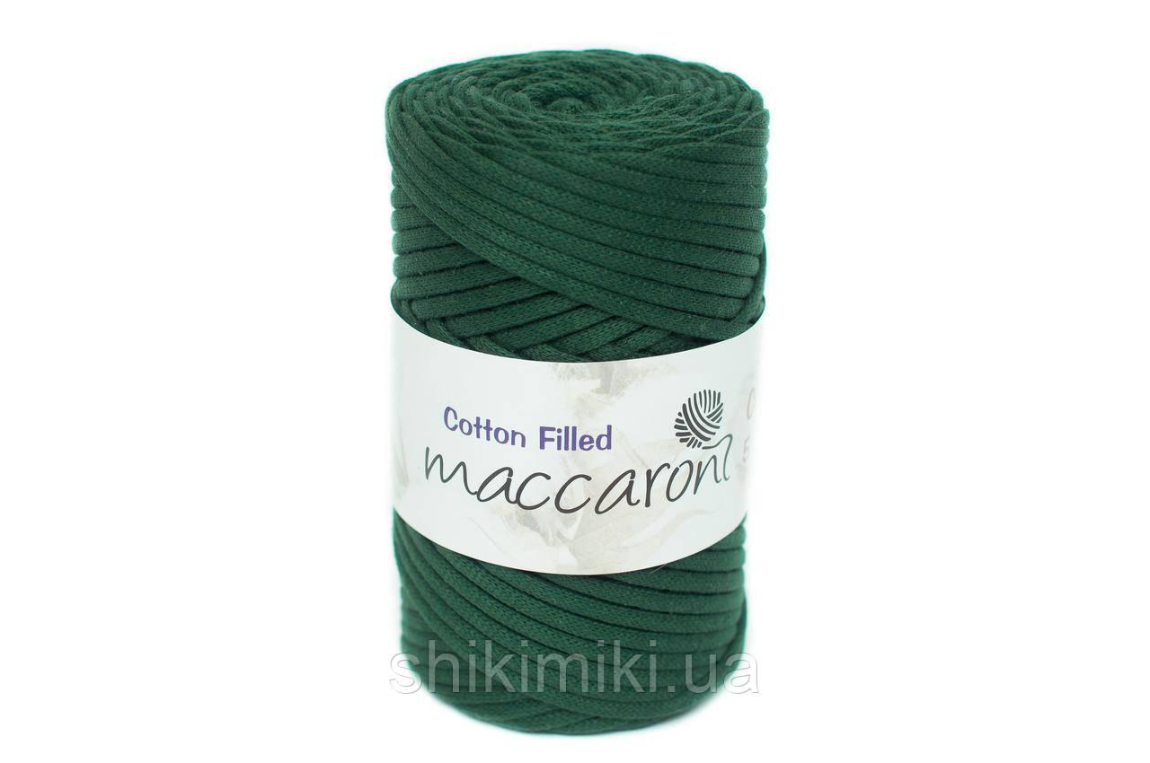 Трикотажный хлопковый шнур Cotton Filled 5 мм, цвет Изумрудный