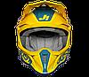 Мотошлем JUST1 J18 PULSAR желтый/синий, фото 2