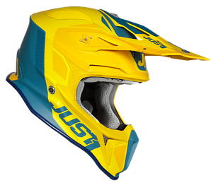 Мотошлем JUST1 J18 PULSAR желтый/синий