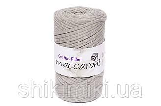 Трикотажный хлопковый шнур Cotton Filled 5 мм, цвет Лен