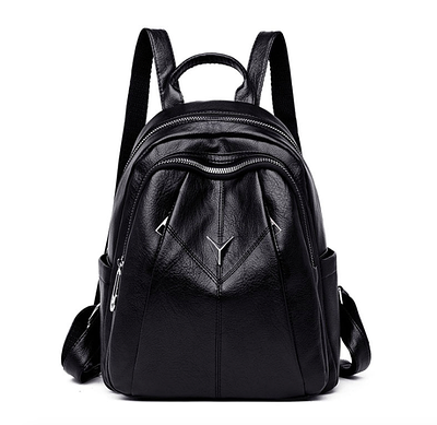 Рюкзак женский кожаный городской Daren Черный