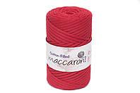 Трикотажный хлопковый шнур Cotton Filled 5 мм, цвет Красный