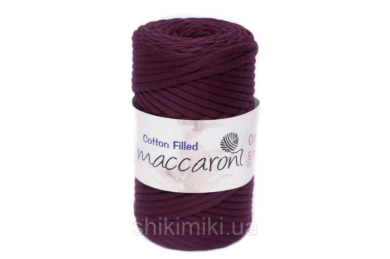 Трикотажный хлопковый шнур Cotton Filled 5 мм, цвет Бургунди