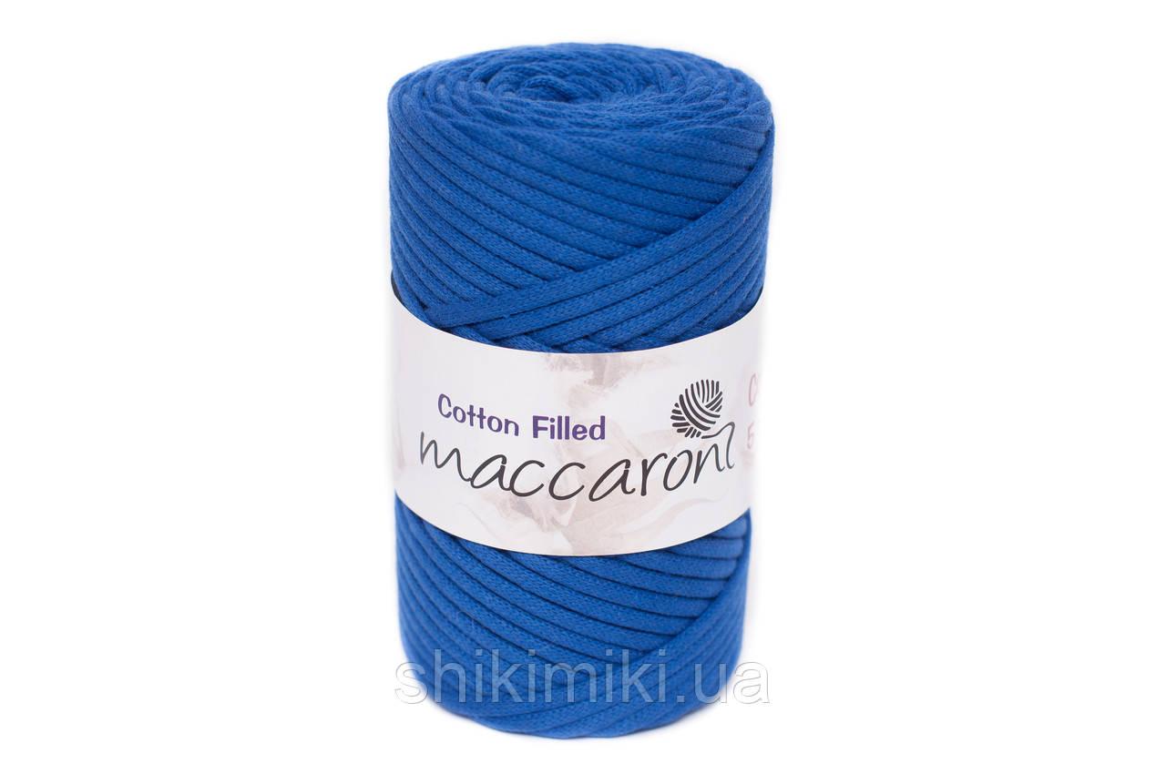 Трикотажный хлопковый шнур Cotton Filled 5 мм, цвет Синий электрик