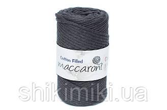 Трикотажный хлопковый шнур Cotton Filled 5 мм, цвет Графитовый