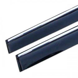 Дефлекторы окон Infiniti FX35/50 2009+ c хром молдингом