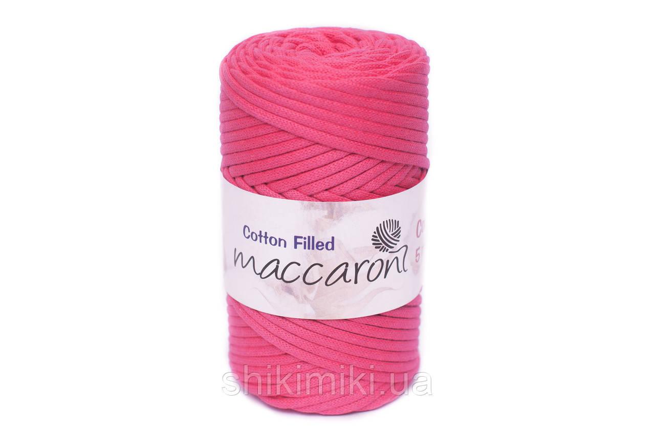 Трикотажный хлопковый шнур Cotton Filled 5 мм, цвет Малиновый