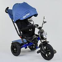 Велосипед трехколесный Best Trike 4490-3525 черно синий