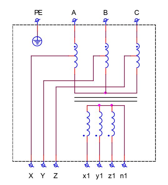 Электрическая схема автотрансформаторов серии АТР