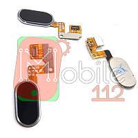 Шлейф Meizu M3 Note L681H з кнопкою меню Home чорного кольору