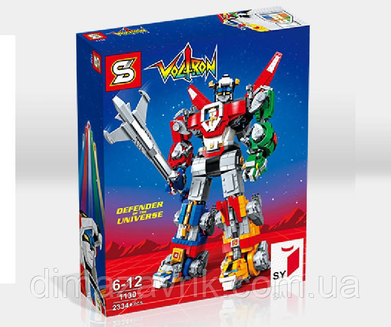 """Конструктор Senco SY1130 (Аналог Lego Ideas 21311) """"Вольтрон - защитник вселенной"""" 2334 детали"""