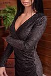 Платье из люрекса с имитацией запаха и асимметричной юбкой vN6358, фото 3