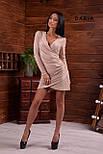 Платье из люрекса с имитацией запаха и асимметричной юбкой vN6358, фото 4