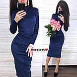 Женский велюровый юбочный костюм с топом и юбкой - карандаш vN6397, фото 5