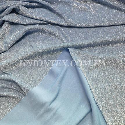 Трикотаж люрекс голубой, фото 2