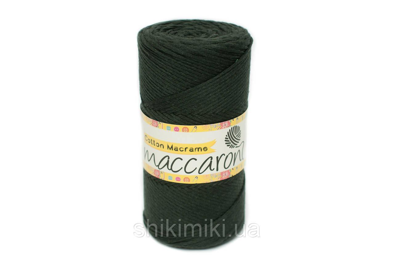 Эко Шнур Cotton Macrame, цвет Темно-зеленый