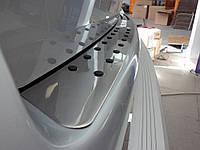 Накладка на задний бампер с черными вставками Volkswagen T-5 нержавейка
