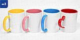 """Цветная чашка, красная """"Дякую тобі Боже..."""", фото 2"""