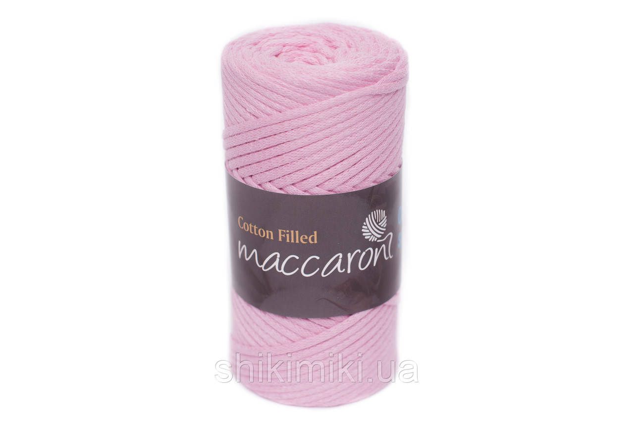 Трикотажный хлопковый шнур Cotton Filled 3 мм, цвет Светло-розовый