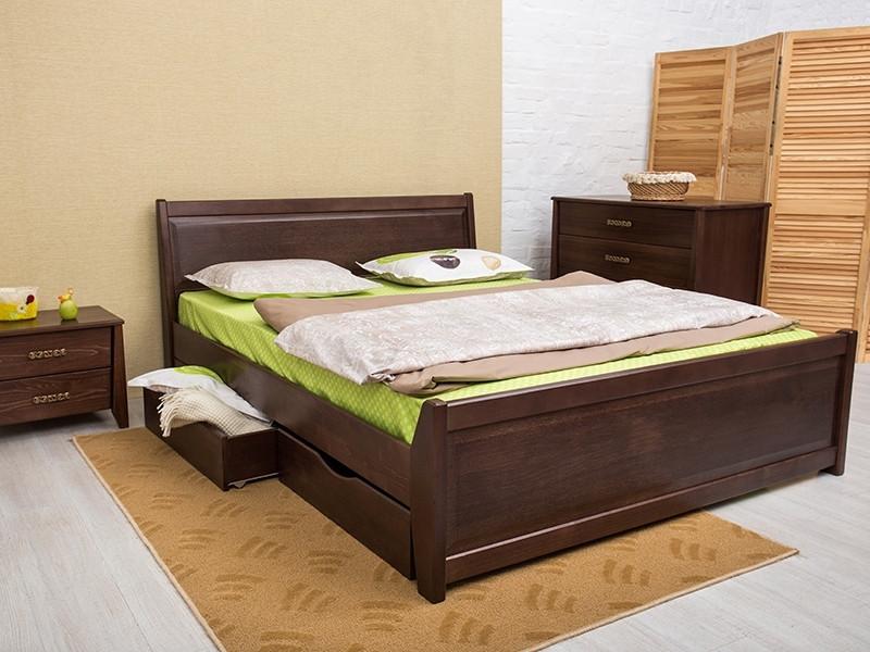 Кровать Сити  с филенкой и ящиками .ТМ Олимп
