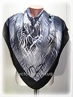 Кашемировый платок Абстракция, графитовый