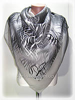 Кашемировый платок Абстракция, серый