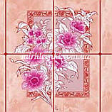 Клеенка Розовая Плитка на стол и на оклейку ПВХ на нетканой основе 30 м, фото 2