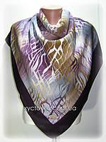 Кашемировый платок Абстракция, фуксия