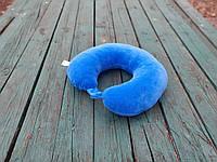 Подушка LSM для путешествий 30х30х9 синяя   (105-101)