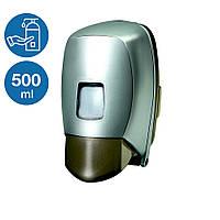 Дозатор диспенсер жидкого мыла шампуня 500 мл оливка пластик нажимной настенный ударопрочный