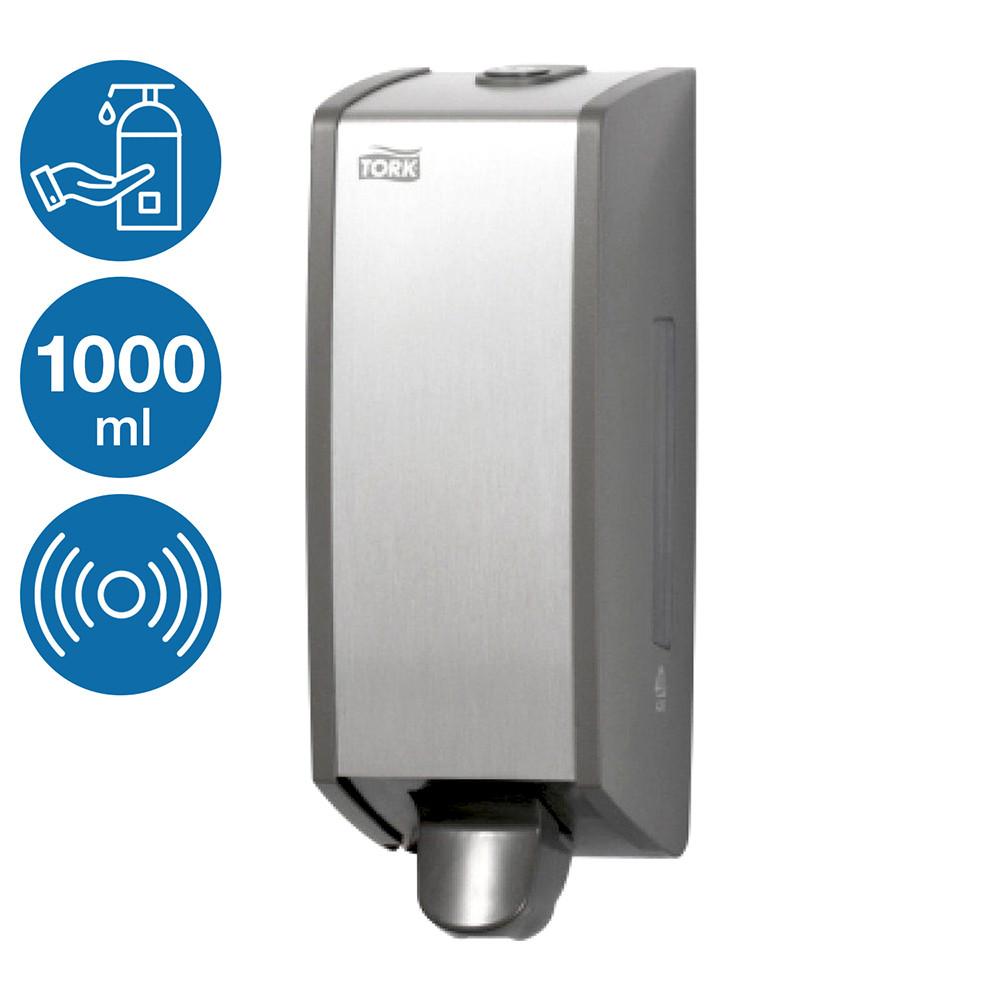 Диспенсер раздатчик для жидкого мыла моющего средства Tork 1000 мл алюминий антивандальный настенный наливной