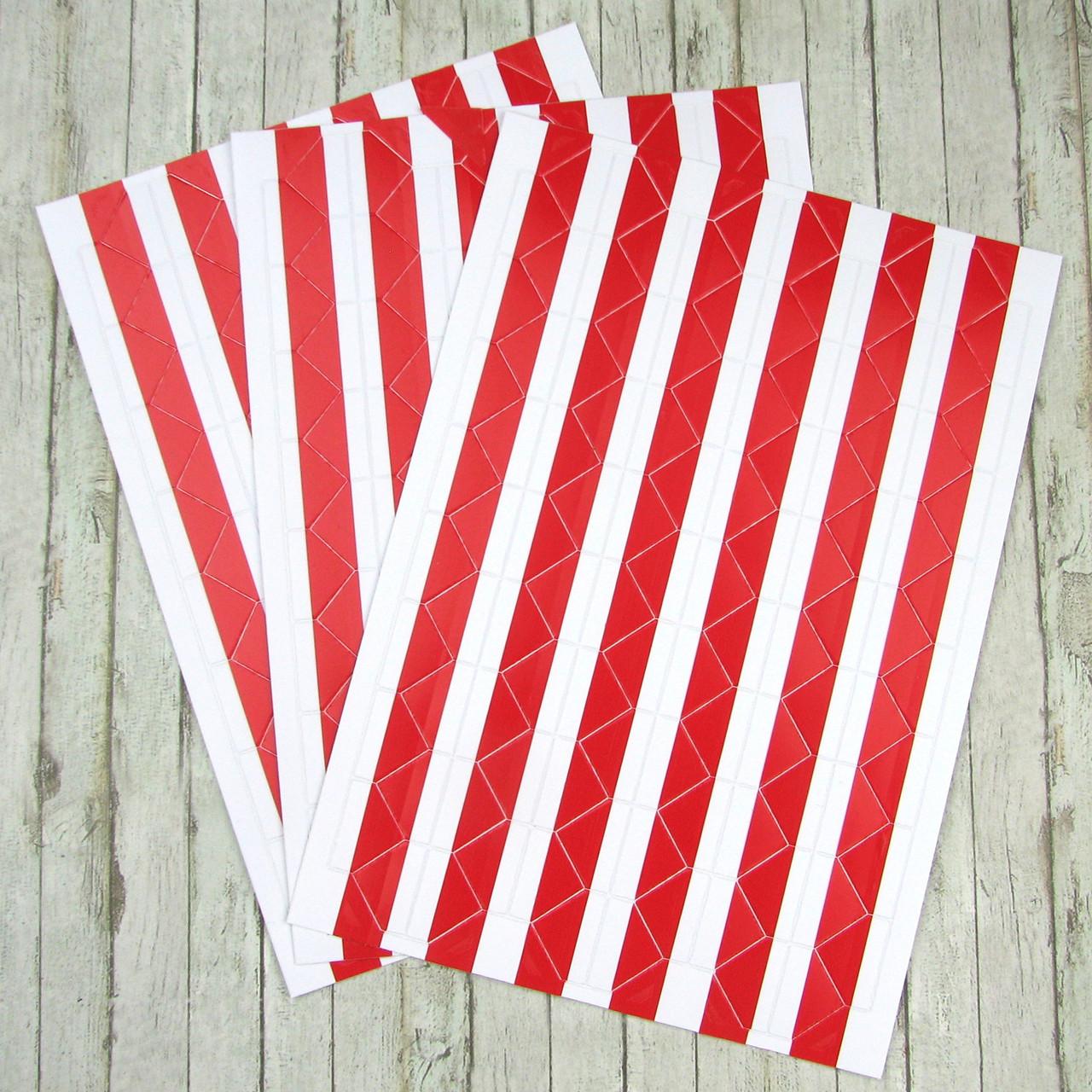 Уголки для фотографий, самоклеющиеся на листе 102 уголка, красные