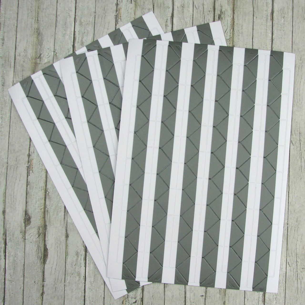 Уголки для фотографий, самоклеющиеся на листе 102 уголка, Серебро