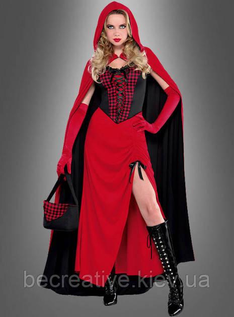 Карнавальный костюм Красной Шапочки с накидкой