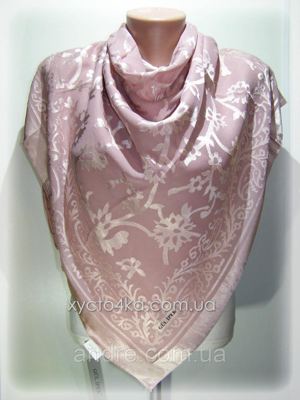 Шелковый платок Афродита, пудровый