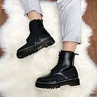 Женские зимние ботинки черного цвета, эко кожа 40 41 ПОСЛЕДНИЕ РАЗМЕРЫ, фото 2