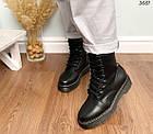 Женские зимние ботинки черного цвета, эко кожа 40 41 ПОСЛЕДНИЕ РАЗМЕРЫ, фото 5
