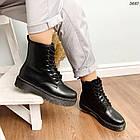 Женские зимние ботинки черного цвета, эко кожа 40 41 ПОСЛЕДНИЕ РАЗМЕРЫ, фото 7