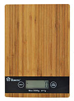 Кухонные весы с бамбуковой платформой на 5 кг Domotec MS-A