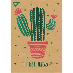 "Блокнот А5/80 кл клей, СМИК+белила+фольга YES ""Tropico. Cactus"" крафт"