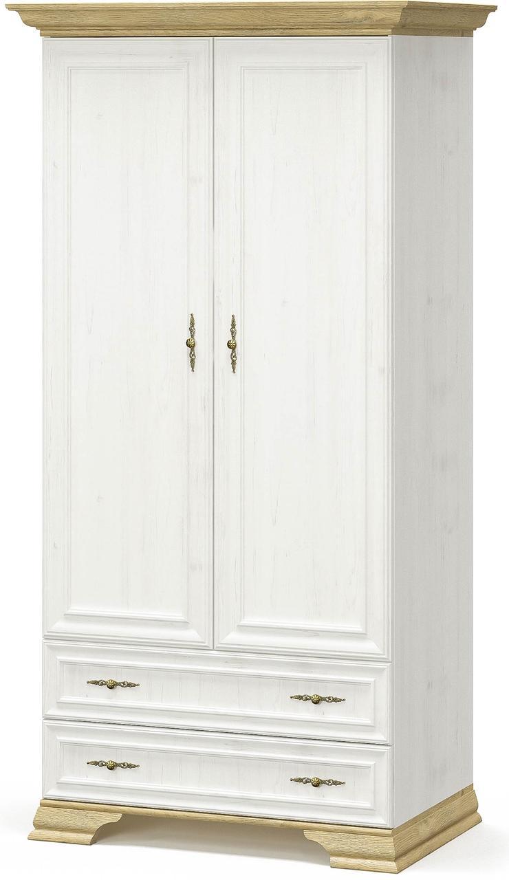 Шкаф 2Д2Ш Ирис Андерсон пайн + Дуб золотой Мебель Сервис (100.9х62.2х197.6 см)