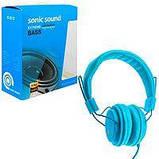 Наушники кожаные Sonic Sound E322B/MP3, Цвет Чёрный, фото 5